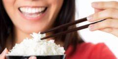 أضرار أكل الأرز للوجه